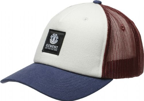 ELEMENT MENS CAP.ICON MESH OXBLOOD BASEBALL CURVED PEAK TRUCKER HAT 9W TA3 3906